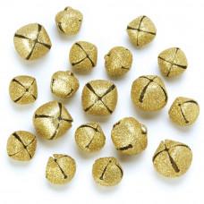 Набор бубенчиков с глиттером, золото (109927)