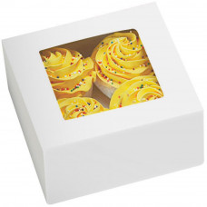 Коробка подарочная с окошком на 4 кексика Время года, 3шт (415-1215)