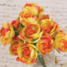 Бумажные розы Сопрано, желтые (SOP 61673)