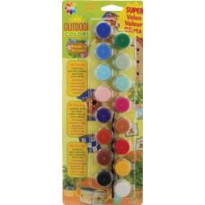Набор акриловых красок для внешних работ, 16 цветов (27050056)