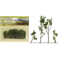 Деревья лиственные светло-зеленые, 24 шт.(00308)