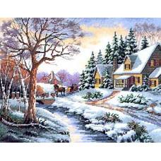 Набор для вышивания крестом Dimensions Зимняя прогулка (13691)