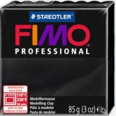 Полимерная глина Fimo Professional Soft, черный (8004 9)
