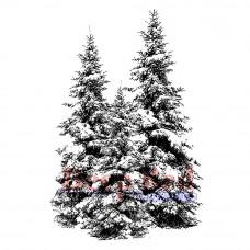 Резиновый штамп Зимние елки (3X505165)