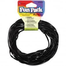 Пластиковый шнур черный, 18 м.(34215)