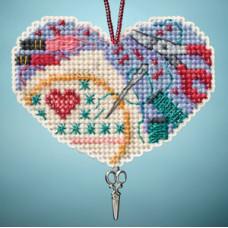 Набор для вышивания Mill Hill Люблю вышивать (MH163104)