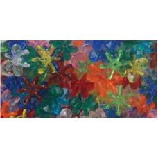 Набор бусин Разноцветные цветочки, 270 шт.(950V029)