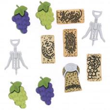 Набор пуговиц-украшений Винные (6953)