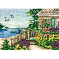 Набор для вышивания крестом Dimensions Коттедж на берегу залива (70-65145)