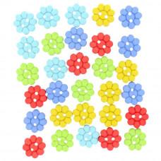 Набор пуговиц-украшений Разноцветные лепестки (6973)