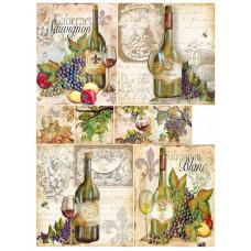 Декупажная карта Вино 1 (04735)