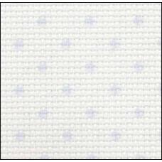 Petit Point Aida, 14, белая с голубыми точками, (3706/5239) метраж, 110см