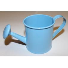 Миниатюрная лейка голубая, средняя