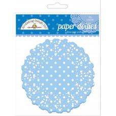 Бумажные салфетки в горошек Голубой джинс, 75 шт.(DD 4470)