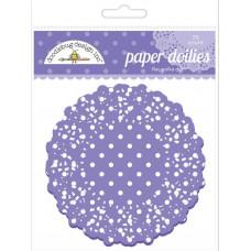 Бумажные салфетки в горошек Сирень, 75 шт.(DD 4471)