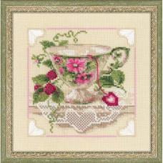 Набор для вышивания крестом Риолис Малиновый чай (1476)