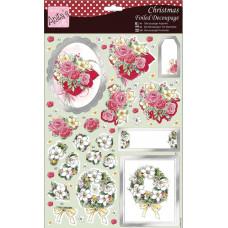 Декупажный фольгированный лист Праздничные цветы (A169470)