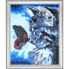 Котенок и бабочка (596)