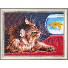Котенок и золотая рыбка (604)