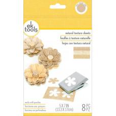 Набор листов для дыроколов Ek Success Натуральная текстура, 8 шт.(E5559023)
