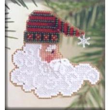 Набор для вышивания Mill Hill Сверкающий Санта (MHCSF35)
