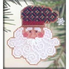 Набор для вышивания Mill Hill Дед Мороз (MHCSF31)
