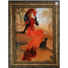 Дама с черной левреткой (Б-699)