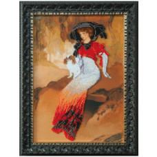 Дама с белым блен-хеймом (Б-700)