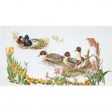 Утки на болоте (TG2064), лен