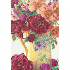 Розы в кувшине, лен (TG3019)