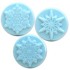Формы для мыла Снежинки, 3 шт. (3SNOW1608 - MW 174)