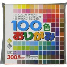 Цветная бумага для оригами Aitoh, 100 цветов, 300 листов (S100C)