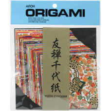 Цветная бумага для оригами Yuzen Washi Chiyogami, 40 листов (YW-112)