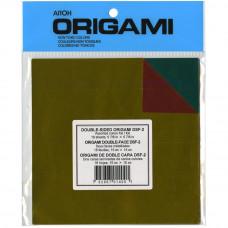 Цветная двусторонняя фольга Aitoh для оригами Assorted Colors Double-Sided Foil, 18 листа (DSF-2)