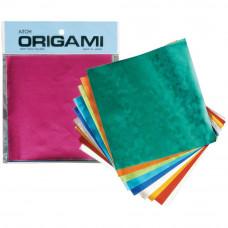 Цветная фольга Aitoh с эмбоссингом для оригами Embossed Foil, 20 листов, 10 дизайнов (EMB-2)