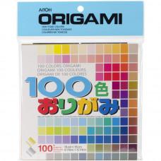 Цветная бумага для оригами Aitoh 100 Colors, 100 листов (M100C)