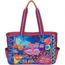 Сумка Laurel Burch Medium Tote, Cats W/Butterflies (LB5502)