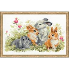 Набор для вышивания крестом Риолис Забавные крольчата (1416)