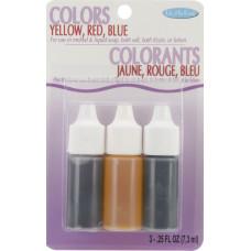 Набор жидких красителей для мыла - красный,желтый и голубой (530 01)