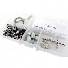 Набор для изготовления четок Silver Crystal Beads/Gray Barrel Beads (CR-12 7)