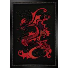 Набор для вышивания крестом Риолис Красный дракон (1229)
