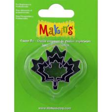 Набор форм для резки пластика Кленовый лист, 3 шт.(M360 29)