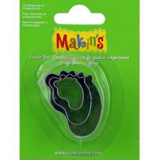 Набор форм для резки пластика Детская ножка,3 шт.(M360 30)