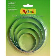Набор форм для резки пластика Круг, 4 шт.(M365 01)