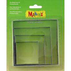 Набор форм для резки пластика Квадрат, 4 шт.(M365 02)