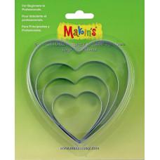 Набор форм для резки пластика Сердце, 4 шт.(M365 03)