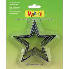 Набор форм для резки пластика Звезда, 4 шт.(M365 04)