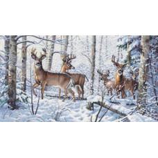 Набор для вышивания крестом Dimensions Зима в лесу (35130)