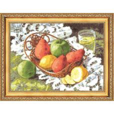 Набор для вышивания крестиком Золотое руно Натюрморт с грушами (ФИ-006)