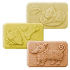 Формы для мыла Хорошая собачка, 3 шт.(GOODDOG1598)
